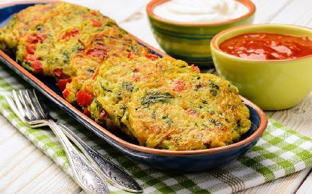 Placki warzywne z menu Beszamel
